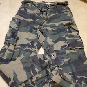 Active us High Waist Camouflage Military Loose Cam